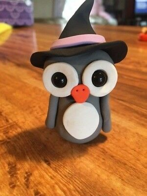 Hoot Loves You Adorable Owl Witch Hat Pumpkin Halloween Greeting Card NEW