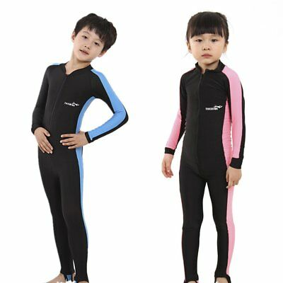 Kids Diving Suits Children Swimwear Long Sleeves Girls Boys Surfing Wetsu AO