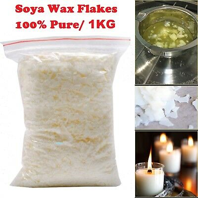 1Kg Soy wax / Soya Wax Flakes 100% Pure Clean Burning No Soot Natural Soy Wax