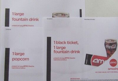 1 AMC Movie Ticket & 1 Large Drink & 1 Large Popcorn / E-Delivery Exp 06/30/2020