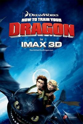 """HOW TO TRAIN YOUR DRAGON 2010 IMAX VERSION B DS 2 Sided 27x40"""" US Movie Poster"""
