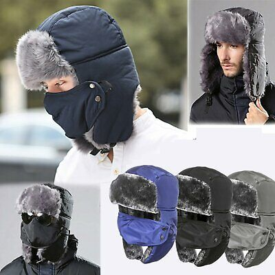 89a76a2090808f Unisex Men/Women Winter Trapper Aviator Trooper Earflap Warm Ski Hat With  Mask