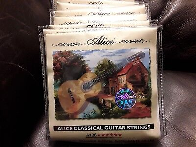 10 Sets Alice A106H Clear Nylon Classical Guitar Strings Stringing Guitar String