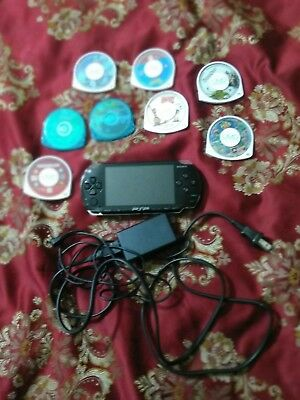 Sony PSP 1001 Handheld System Console Piano Black Charger, Games BUNDLE! TESTED