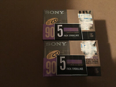 Set of 10 New Sealed Sony UX 90 Type II Cassettes Tapes Assembled In Mexico