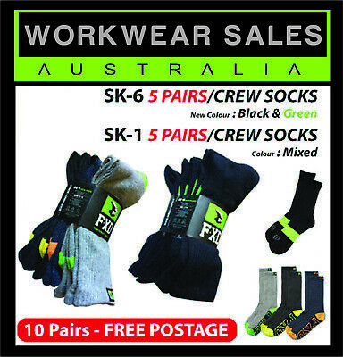 FXD SK1+SK6 Socks 10 pairs  5 in Black+ 5 mixed Greys Mens socks , Free Shipping