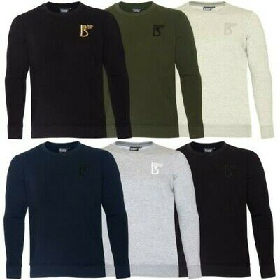94f12ce8c144a Hommes Sweatshirt Pull Col Rond Décontracté Jersey Uni Sweat Polaire Pull