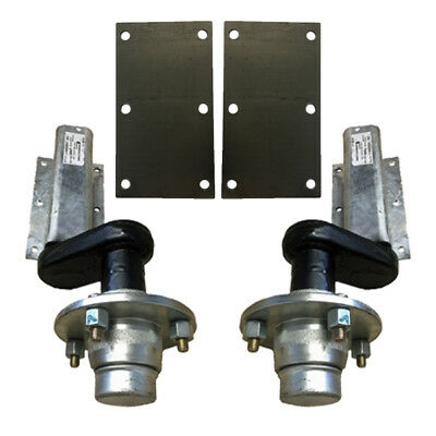 550Kg Avonride trailer suspension units with 4 inch PCD hubs & mounting plates