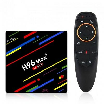 H96 Max Plus RK3328 4G/32G Android 8.1 USB3.0 Voice Control TV Box - NO TAXES