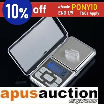 500g 0.01 DIGITAL POCKET SCALES JEWELLERY PRECISION ELECTRONIC WEIGHT AU