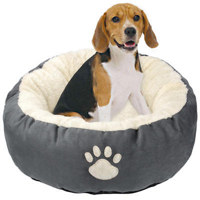 "LIVINGbasics® Round Solid Pet Bed For Cats or Small Dogs, 27 9/16""x27 9/16""x8"""
