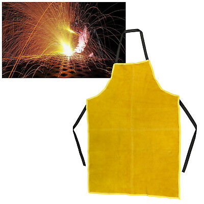 Safety & Protective 545g Kahki Leather Cowhide Welding Safety Apron 65x90cm