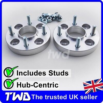 25Mm Hub-Centric Alloy Wheel Spacers For Ford 4X108 Pcd / 63.4Mm Bore + Nut -2Kx