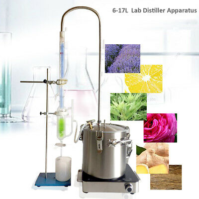 6L/10L/17L  Lab Essential Oil Distillation Water Purifier Glassware Kits