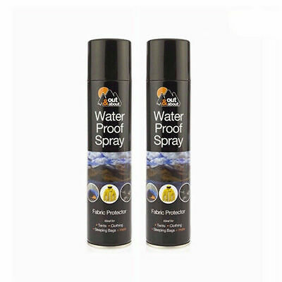 2 x Water Proof Spray Fabric Protector Waterproofing for Shoes Tents Cloth 300ML