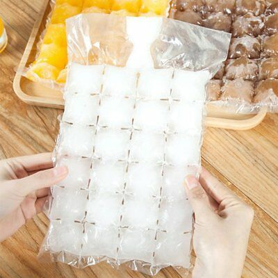 10Pcs/Pack Disposable Ice-Making Bags Ice Mould Self-Sealing Ice Cube Pouch N2