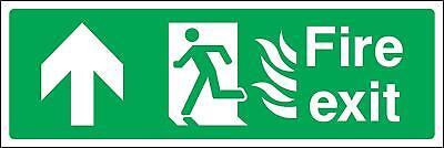 Fire exit up with fire pictograms Safety sign