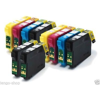 Kit 10 Cartucce Compatibili Per Epson EXPRESSION HOME XP205, XP212, XP215