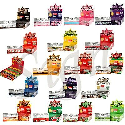 Juicy Jays King Size Slim Rolling Papers (15 Flavoures) | 1,5,10, Booklets