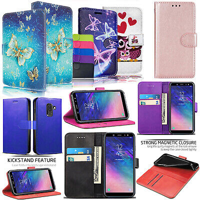 Samsung Galaxy A6 Plus 2018 Shockproof PU Leather Wallet Phone Flip Case Cover