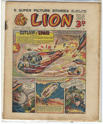 Lion 10th May 1952 (#12, high grade) Captain Condor, Amazing Advs of Mr X