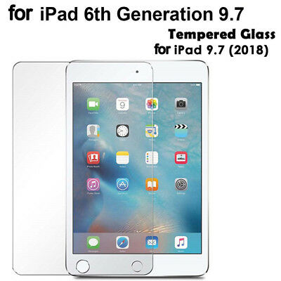 BL_ Tempered Glass Screen Protector Film for Apple iPad 9.7in 2018 6th Gen A1893