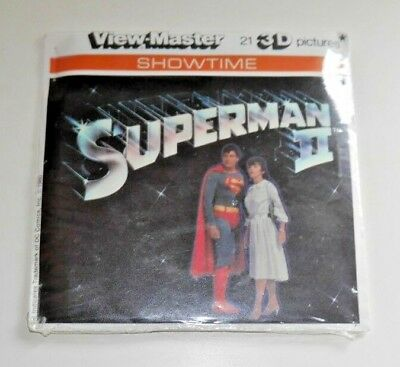* Mint / Sealed * Superman Ii Movie Viewmaster Reels L46 Rare   D187