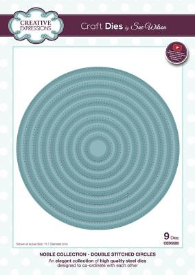 Sue Wilson NOBLE COLLECTION - Double Stitched Circles - CED5528 - Jan 2019