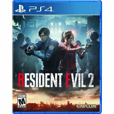 Brand New Resident Evil 2 Remake (PS4 PlayStation 4 2019) Factory Sealed Capcom
