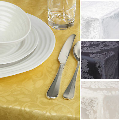 Jacquard Damask Tablecloths,Runner,Nipkin,All Colours,Sizes & Shapes Top Quality