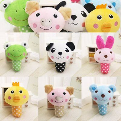 Cute Animal Design Pet Small Dog Puppy Chew Squeaker Squeak Plush Sound Toy 10PZ