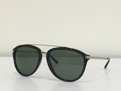 4465b9e91bbb8 46 Versace MOD 4299 GB1 9A Aviator Black Green Polarized Sunglasses 58 17