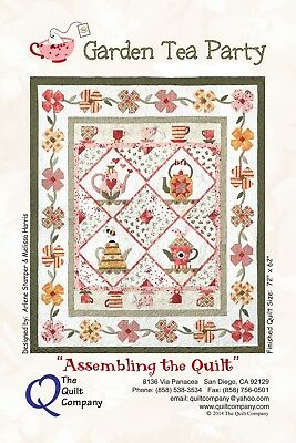 GARDEN TEA PARTY COMPLETE SET OF 6 QUILTING PATTERNS, From The Quilt Company NEW