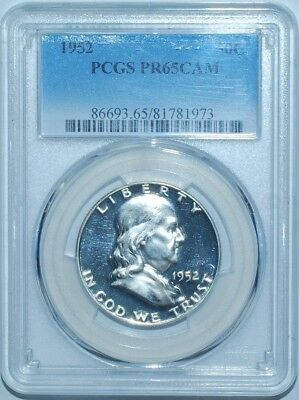 1952 PCGS PR65CAM Cameo Proof Strike Franklin Half Dollar