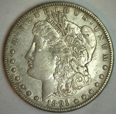 Morgan Silver Dollar 1891 S United States Mint Coin $1 XF Extra Fine