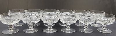 12 Waterford Colleen Cut Crystal Very Short Stem Champagne Sherbet Glass
