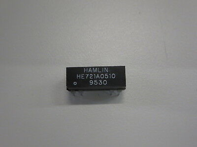 LOT OF 5 HAMLIN HE721A12-00 REED RELAY SPST-NO 200VDC 0.5A NNB