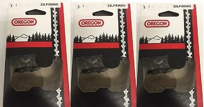 """3 18/"""" 22LPX068G Oregon chainsaw chains fits 025 MS 250 251 replaces 26RS 68"""