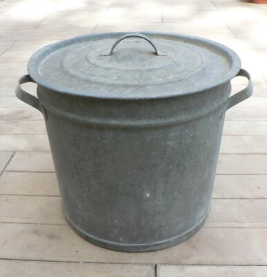 antique galvanized vessel, Vintage boiler with a lid for boiling water