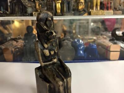 Vintage Unique Egyptian Statue Goddess Sekhmet Hand Carved  Made in Egypt