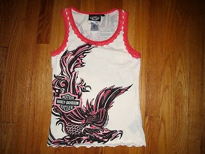 1da02019256ee WOMEN S LARGE 1991 Lace Harley Davidson Black Hills Rally Tank Top ...
