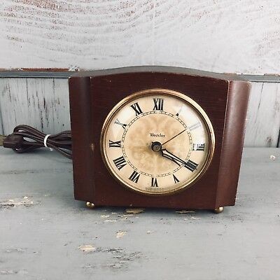 VTG Mid-Century Westclox Sheraton Electric Mantle Alarm Clock USA FOR PARTS ONLY