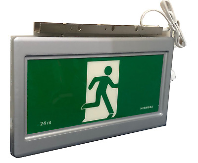 LED Emergency Exit Light with signs, super slim, ceiling mount double or single