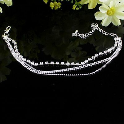 Multi metal bead chain flash drill chain beach Anklet Jewelry RT