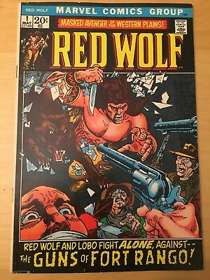 Red Wolf 1, See Pics For Grade, 1St Solo Series, Masked Avenger
