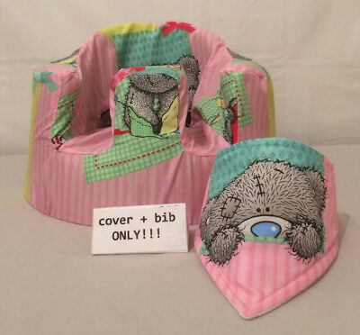 handmade seat cover with harness holes bumbo bib pink me to you