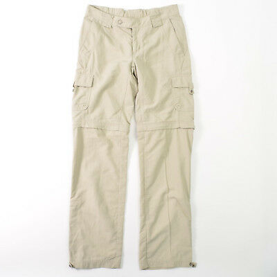Columbia Titanium Nylon Convertible Zip Off Pants Beige Womens 4
