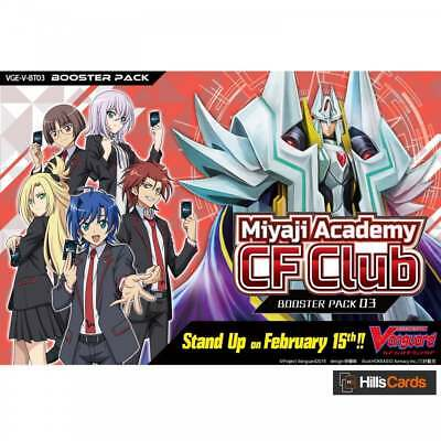 Cardfight Vanguard Miyaji Academy CF Club V-BT03 - Booster Box of 16 Packs Cards