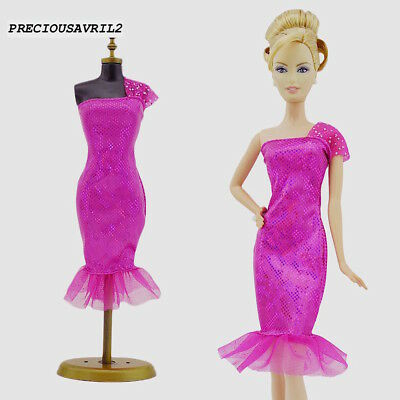 Brand new barbie doll clothes clothing outfit pink cocktail dress party QUALITY