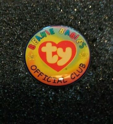 TY Beanie Baby ty.com Early 2000s TY BBOC LOGO Lapel Pin Badge NEW!